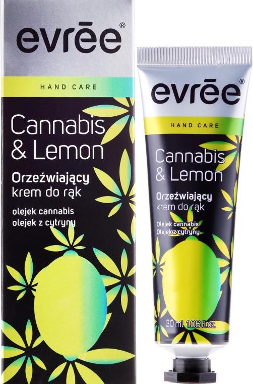 Orzeźwiający krem do rąk - Evrēe Cannabis & Lemon