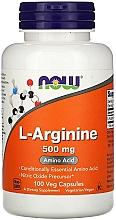 Kup L-arginina w proszku - Now Foods L-Arginine Veg Capsules