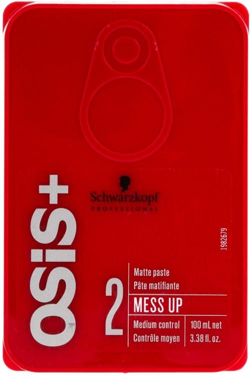 Matująca pasta do stylizacji włosów - Schwarzkopf Professional Osis+ Mess Up Matt Paste
