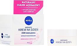 Kup Odżywczy krem na dzień do cery suchej i wrażliwej 24h nawilżenia - Nivea Moisturizing Day Cream Nourishing For Dry And Sensitive Skin