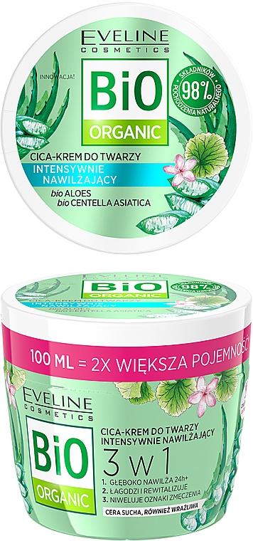 Intensywnie nawilżający krem do twarzy - Eveline Cosmetics Bio Organic