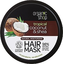 Kup Naturalna maska nawilżająca do włosów Tropikalny kokos i masło shea - Organic Shop Coconut & Shea Moisturising Hair Mask