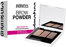 Kup Paletka pudrów do brwi - Andmetics Brow Powder Trio