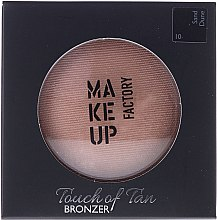 Kup Puder brązujący do twarzy - Make up Factory Touch Of Tan Bronzer