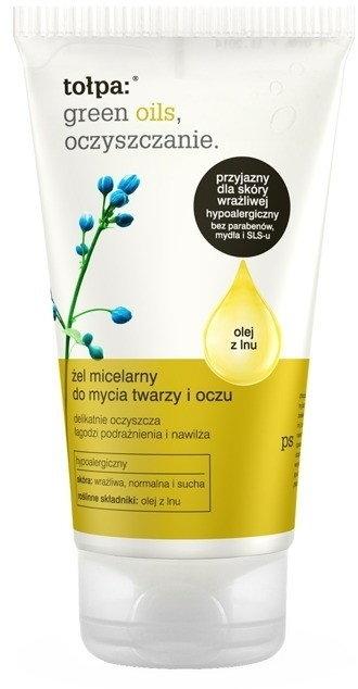 Żel micelarny do mycia twarzy i oczu - Tołpa Green Oils Oczyszczanie