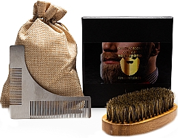 Kup Zestaw do pielęgnacji brody - Yoshimoto Gentleman's Code ST064 (comb*2 + bag)