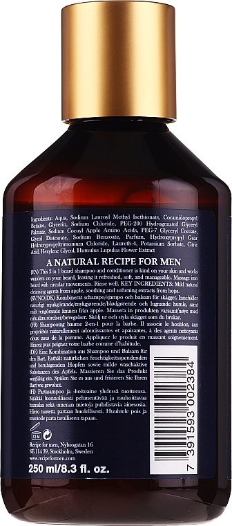Szampon i odżywka do brody - Recipe For Men RAW Naturals Rustic Beard Shampoo & Conditioner — фото N2