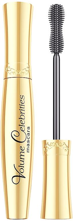 Pogrubiająco-podkręcający tusz do rzęs - Eveline Cosmetics Volume Celebrities
