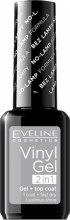 Kup Lakier żelowy do paznokci - Eveline Cosmetics Vinyl Gel 2In1 Gel+Top Coat