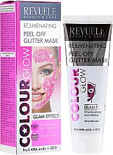 Kup Odmładzająca brokatowa maska peel-off do twarzy - Revuele Colour Glow Rejuvenating Pell Off Glitter Mask