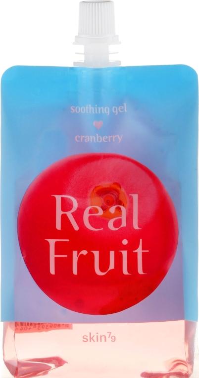 Odświeżająco-rewitalizujący żel kojący do ciała Żurawina - Skin79 Real Fruit Cranberry Soothing Gel — фото N1