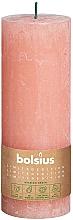 Kup Świeca cylindryczna, różowa, 190x68 mm - Bolsius