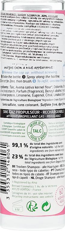 Suchy szampon do włosów - Secrets De Provence Dry Shampoo All Types — фото N2