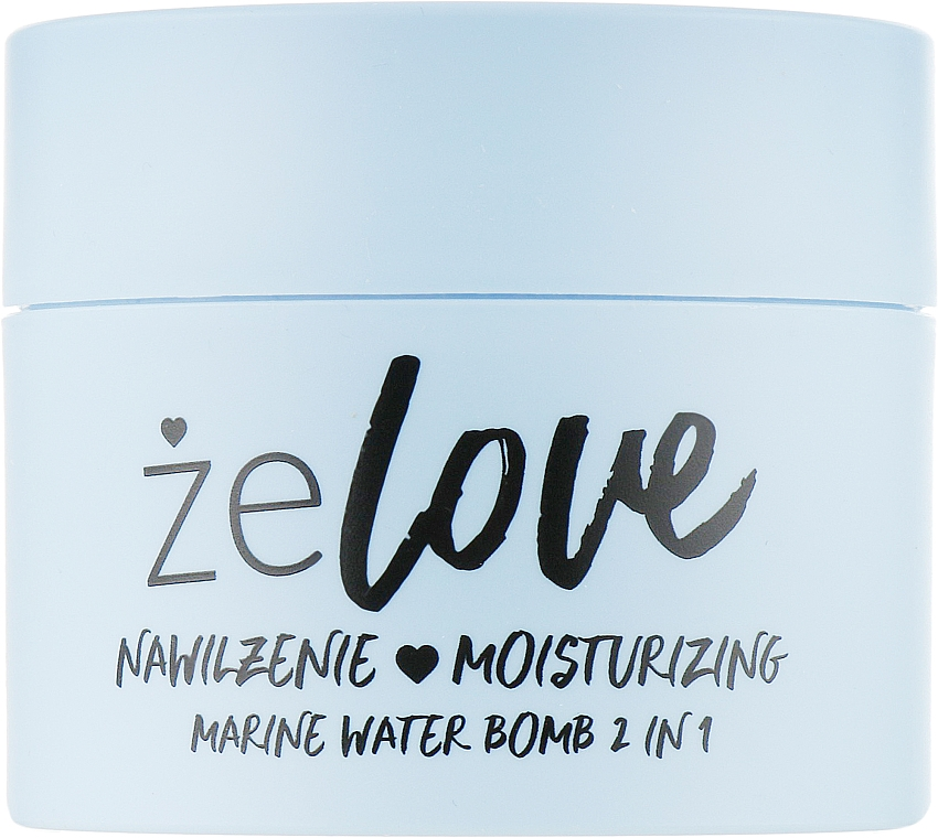 Nawilżający żel do pielęgnacji twarzy, szyi i dekoltu - FlosLek ZeLove Moisturizing Marine Water Bomb 2in1