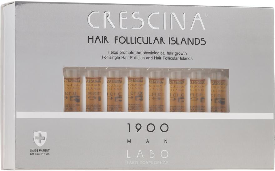 Kuracja stymulująca wzrost włosów dla mężczyzn 1900 - Crescina Hair Follicular Islands Re-Growth 1900 — фото N1
