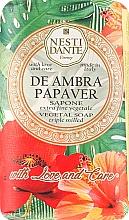 Kup Roślinne mydło w kostce Ambra i czerwony mak - Nesti Dante