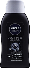 Kup Oczyszczający żel pod prysznic 3 w 1 z aktywnym węglem - Nivea Men Active Clean Active Charcoal Shower Gel 3in1