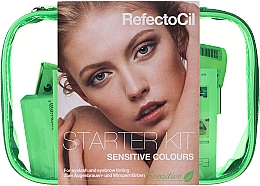 Kup Zestaw do koloryzacji brwi i rzęs - RefectoCil Lash & Brow Starter Sensitive Kit (dye/3x15ml + developer/gel/60ml + tint/remover/150ml + artist/palette + pads + folder)