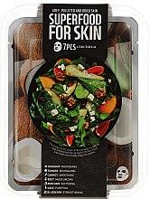 Kup Zestaw masek na tkaninie do skóry szarej, zanieczyszczonej i suchej - Superfood For Skin Grey, Polluted And Dried Skin (7 x mask 25 ml)