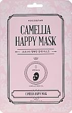Kup Nawilżająca maska na tkaninie do twarzy Kamelia - Kocostar Camellia Happy Mask