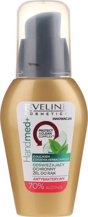 Antybakteryjny żel do rąk z olejkiem z drzewa herbacianego i 70% alkoholu - Eveline Cosmetics Handmed+ — фото N1