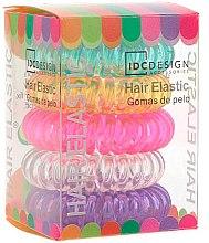Kup Zestaw kolorowych gumek do włosów, silikonowe, 5 szt. - IDC Institute Design Hair Bands Pack