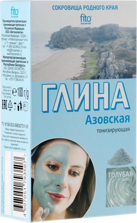 Azowska tonizująca glinka błękitna do twarzy i ciała - FitoKosmetik