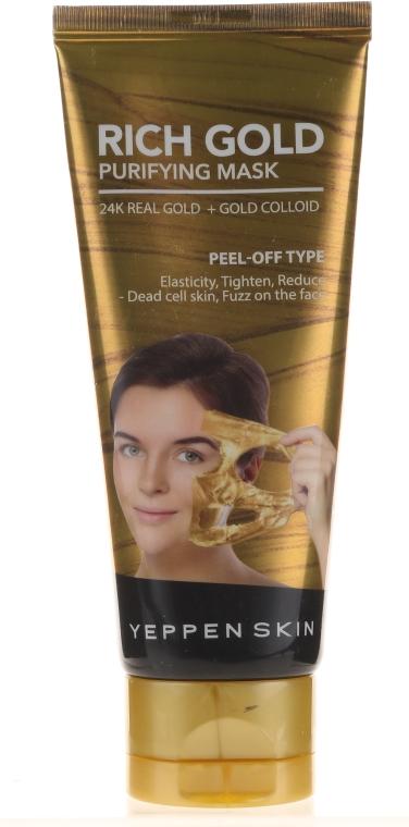 Oczyszczająca maska peel-off ze złotem koloidalnym - Yeppen Skin Purifying Mask Rich Gold Peel-off — фото N1