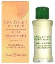 Kup Frais Monde Spa Fruit Peach And White Musk Perfumed Oil - Olejek perfumowany Brzoskwinia i białe piżmo