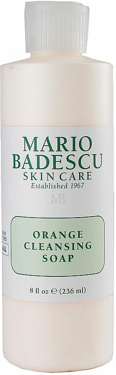 Oczyszczające mydło pomarańczowe do mycia twarzy - Mario Badescu Orange Cleansing Soap — фото N1