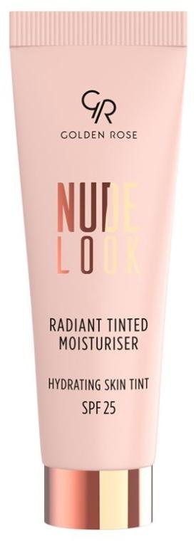 Rozświetlający podkład nawilżający do twarzy SPF 25 - Golden Rose Nude Look Radiant Tinted Moisturiser