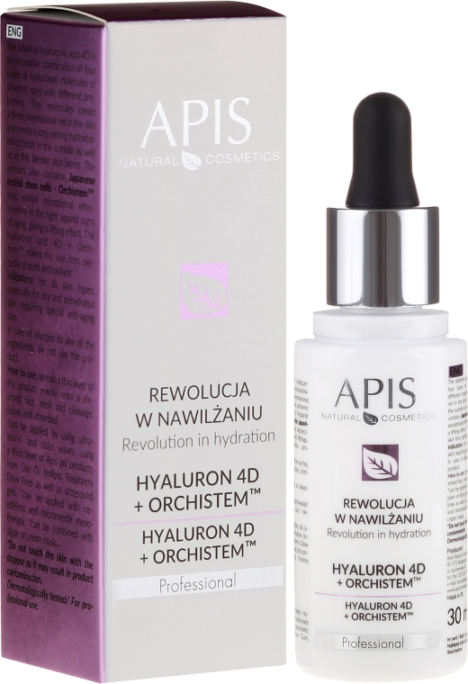 Serum do twarzy - APIS Professional Hyaluron 4D + Orchistem