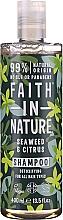 Kup Szampon do wszystkich rodzajów włosów Wodorosty i cytrusy - Faith In Nature Seaweed & Citrus Shampoo