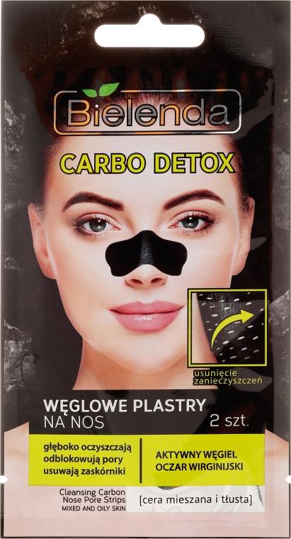 Węglowe plastry na nos - Bielenda Carbo Detox