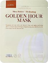 Kup Nawilżająca maseczka w płachcie do twarzy - Elroel Golden Hour Mask Shea Butter Hydrating