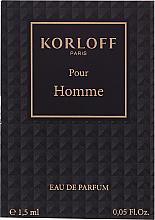 Kup PRZECENA! Korloff Paris Pour Homme - Woda perfumowana (próbka) *