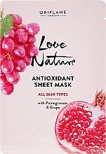 Kup Antyoksydacyjna maska w płachcie z granatem i winogronem - Oriflame Love Nature