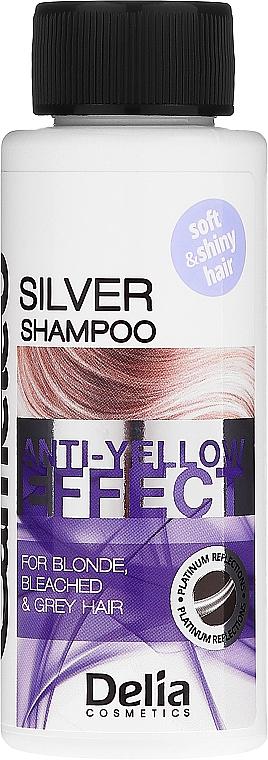 Szampon do włosów siwych, blond i rozjaśnionych - Delia Cosmetics Cameleo Silver Shampoo Anti-Yellow Effect
