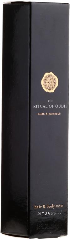 Mgiełka do włosów i ciała Oud i paczula - Rituals The Ritual of Oudh Hair & Body Mist Oudh & Patchouli — фото N2