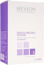 Kup Zestaw do rozjaśniania włosów bez amoniaku - Revlon Professional Gentle Mèches System (highlighting cream 3 x 60 ml + booster 6 x 50 g)