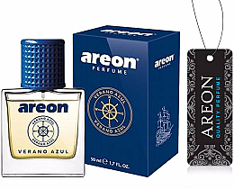 Kup Zapach do samochodu - Areon Luxury Car Perfume Long Lasting Air Freshener Verano Azul