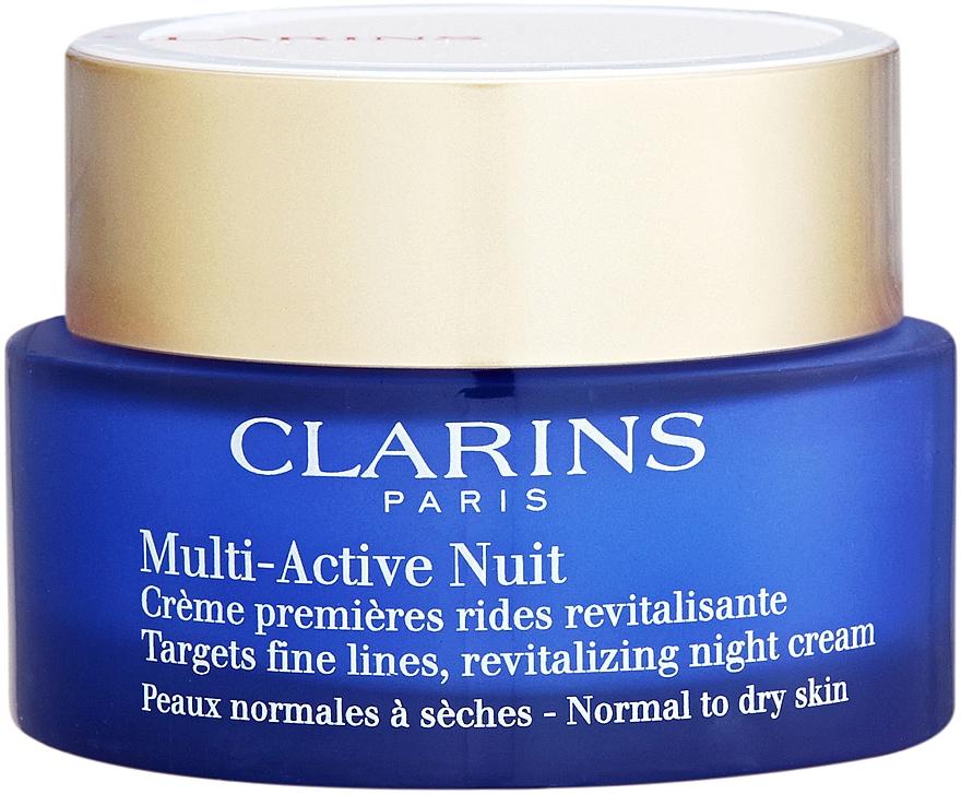 Krem do twarzy przeciw pierwszym oznakom starzenia - Clarins Multi-Active Night Cream Normal to Dry Skin — фото N2