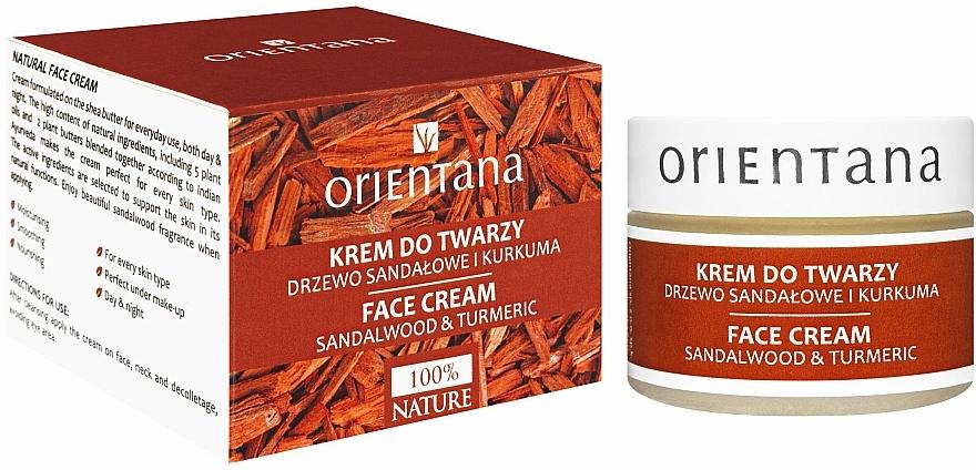 Krem do twarzy na dzień i noc Drzewo sandałowe i kurkuma - Orientana