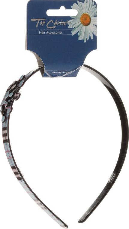 Opaska do włosów 27567, niebiesko-czarna korona - Top Choice — фото N1