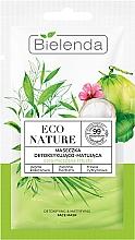 Kup Maseczka do twarzy - Bielenda Eco Nature Coconut Water Green Tea & Lemongrass Detox & Mattifyng Face Mask