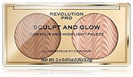 Kup Paletka do konturowania twarzy - Revolution Pro Sculpt And Glow