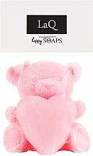 Kup Naturalne mydło ręcznie robione o zapachu wiśniowym Duży miś z sercem - LaQ Happy Soaps