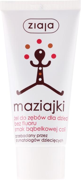 Żel do mycia zębów bez fluoru dla dzieci Cola bąbelkowa - Ziaja Maziajki