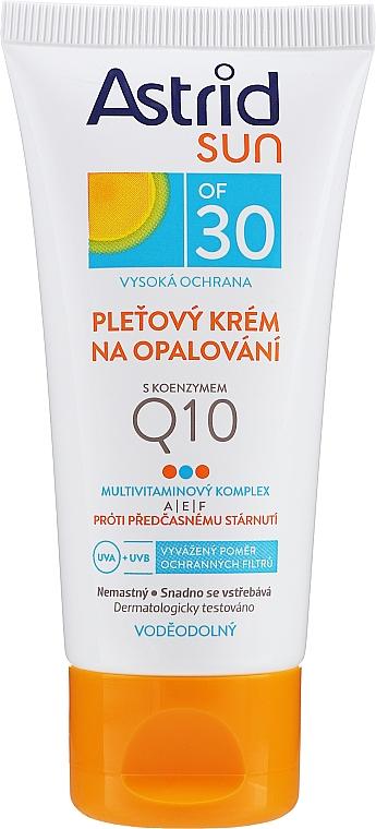 Krem przeciwsłoneczny do twarzy z koenzymem Q10 SPF 30 - Astrid Sun Protecting Face Cream — фото N1