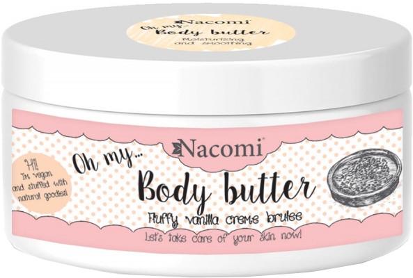 Masło do ciała Waniliowy crème brûlée - Nacomi Body Butter Fluffy Vanilla Creme Brulee